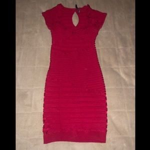 GUESS by MARCIANO Red Bandage Dress